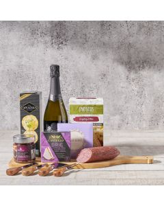 Artisanal Cheese & Meats Champagne Gift Basket, Gourmet Gift Baskets, Wine Gift Baskets, USA Delivery