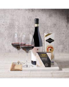Artisan Crackers & Cheese Wine Gift Basket