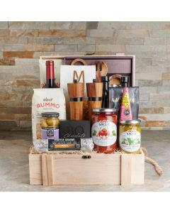 The Napoli Picnic Gift Crate, Gourmet Gift Baskets, Wine Gift Baskets, USA Delivery