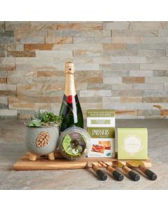 The Modern Classics Snack Basket, Gourmet Gift Baskets, Champagne Gift Baskets, Succulent Gift Baskets, Chocolates, Snacks, Cheese, USA Delivery