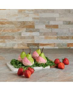 Chocolate Pear Platter Gift Set