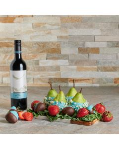 Chocolate Dipped Treats Gift Set with Wine