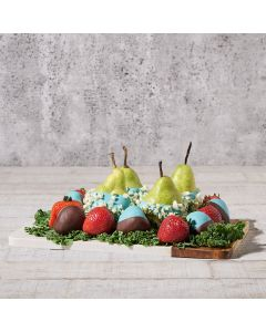 Choco-Dipped Strawberries & Pears Gift Set, Gourmet Pears, Chocolate Covered Strawberries, Chocolate Covered Pears, USA Delivery