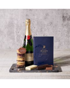 Gourmet Chocolates & Sparkling Wine Gift Basket