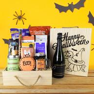Boo! Halloween Gift Crate With Champagne