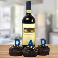 The Cake Wine Fathers Day Gift Basket